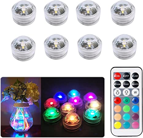 8pcs Luces sumergibles LED Luces subacuáticas impermeables SMD ...