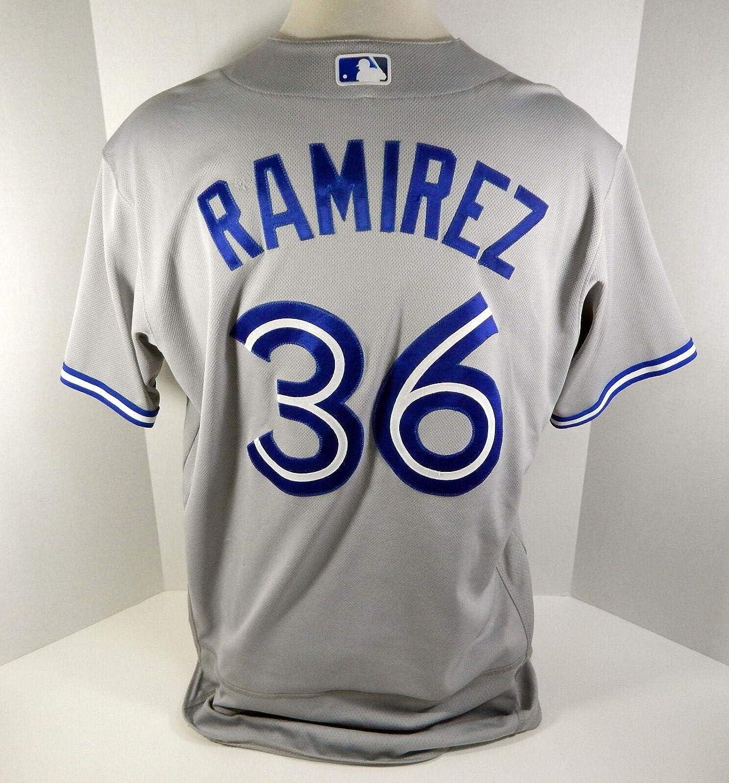 free shipping fe049 cfaf7 2017 Toronto Blue Jays Carlos Ramirez #36 Game Used Grey ...