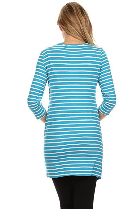 008ba11f7 BellyMoms Bailey Stripe Empire Access Women s Maternity and Nursing Top at  Amazon Women s Clothing store