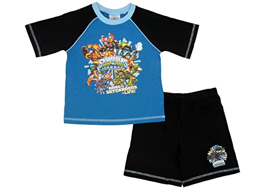 d8750ee6b Skylanders Swap Force Pyjamas Short Boys Pyjama Set Shortie Pjs (4-5  Years)  Amazon.co.uk  Clothing