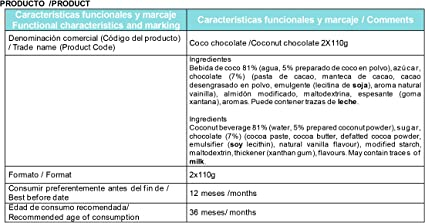 Pack de 2 Postres Vegetales Coco Chocolate .Alternativas a ...