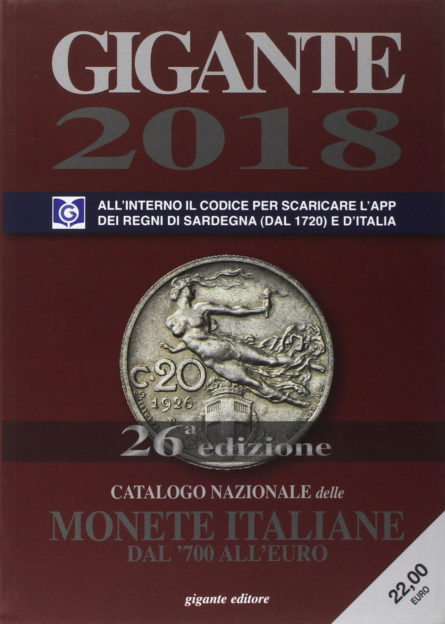 c20c80f380 Amazon.it: Gigante 2018. Catalogo nazionale delle monete italiane ...