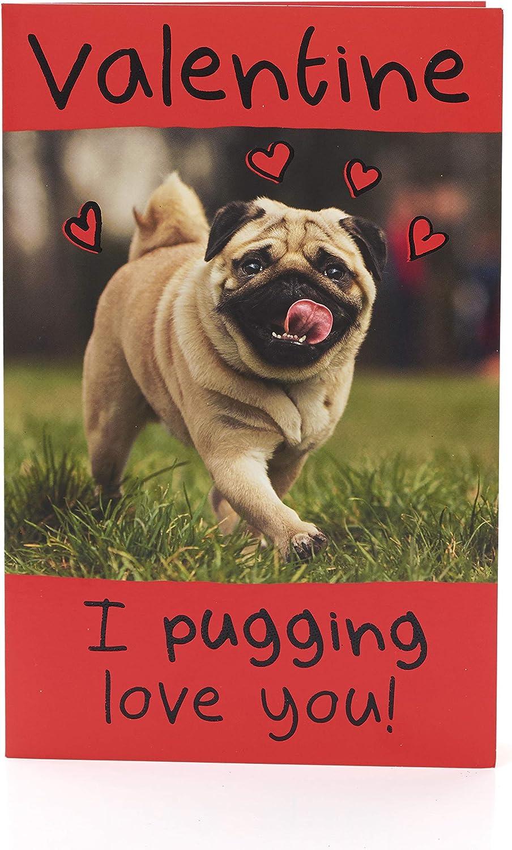 Cute Dog Valentine/'s Day Card Me mine pug Card Anniversary Card Dog Cupid Card Pug Love Card Love you Card