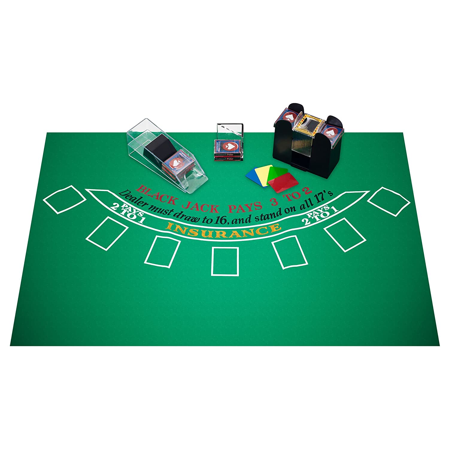 Blackjack table top view - Amazon Com Trademark Blackjack Accessories Set Multi Blackjack Supplies Sports Outdoors