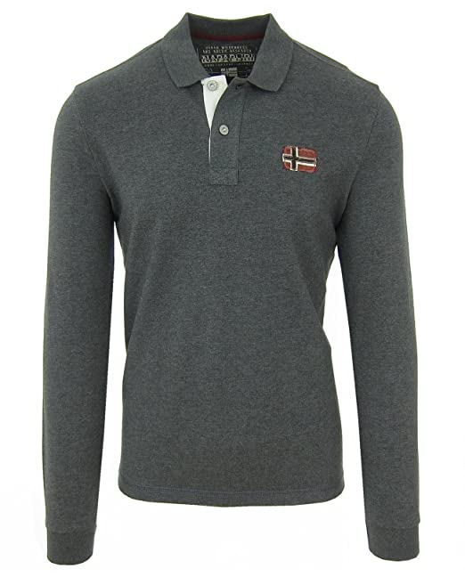 Napapijri SMU Eighton - Polo de Manga Larga para Hombre, Color ...