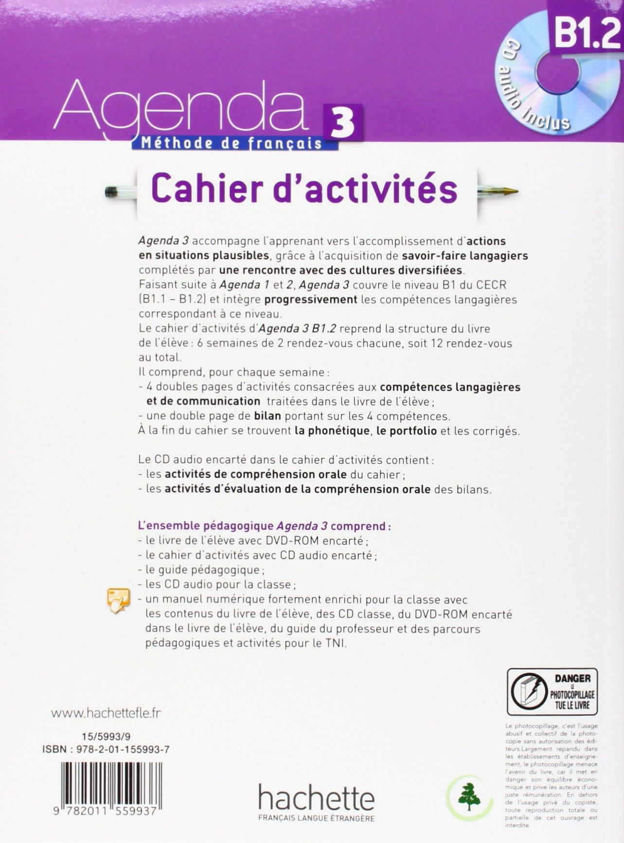 Agenda 3. Niveau B1. 2. Cahier DActivités: Amazon.es: Vv.Aa ...