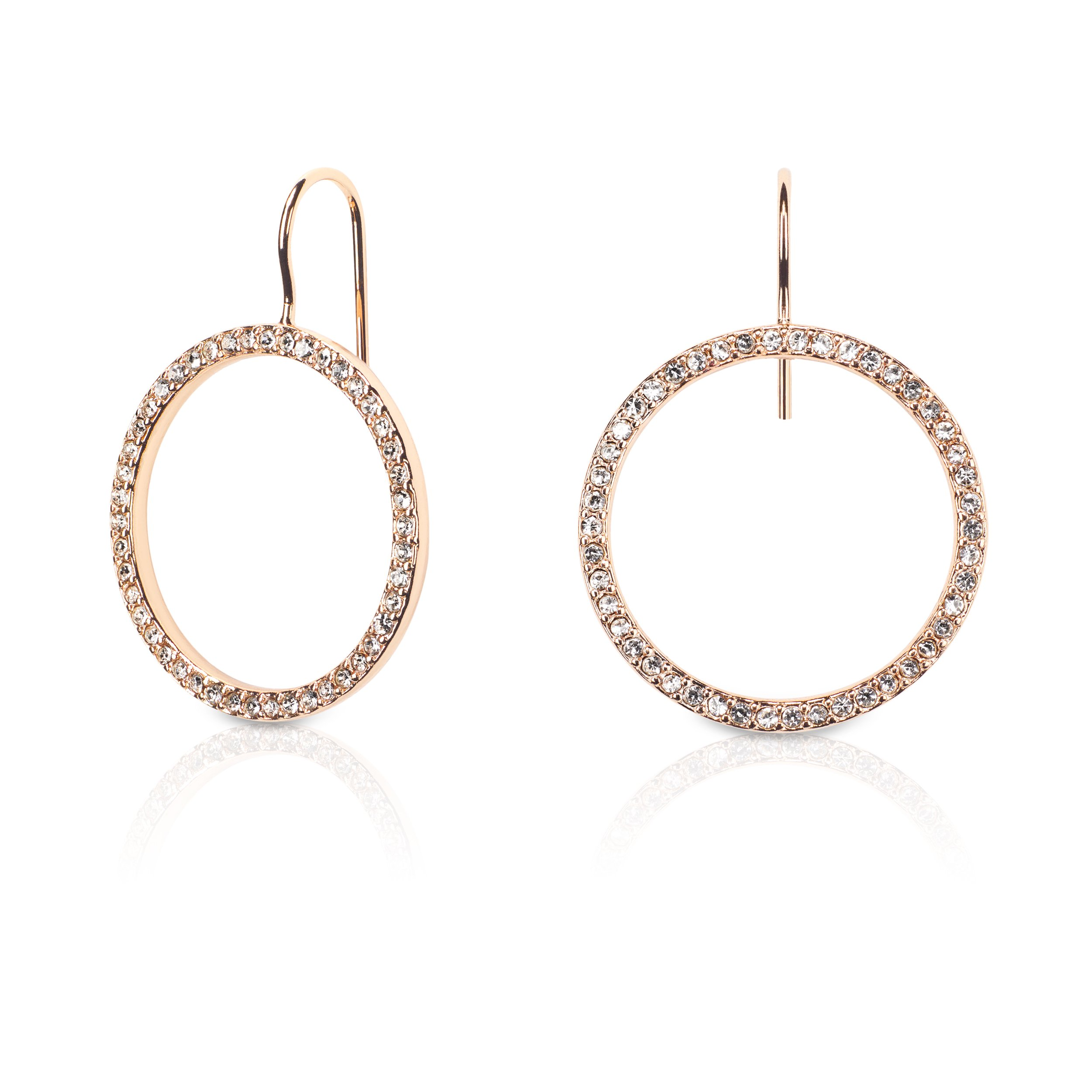 Kate Spade New York Gold Plated Hoop Earrings With Clear Studs