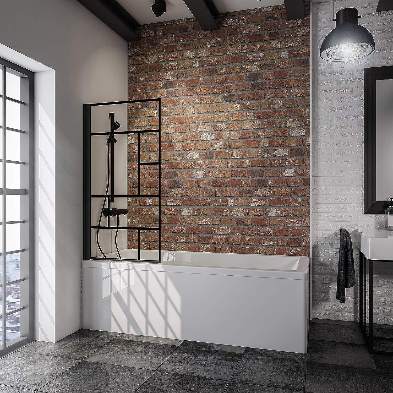 Schulte - Mampara para bañera giratoria, plegable, pantalla de ...