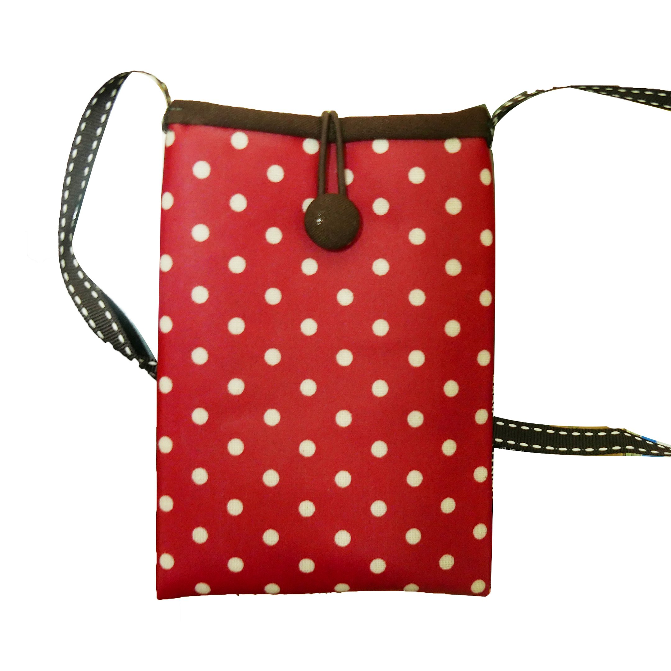 Crossbody Smartphone Pouch, Tainada Women Ladies Shockproof Cross Body Shoulder Travel Cell Phone Purse Bag for iPhone 8 Plus, X, Samsung S8, S8+. Google Pixel 2 XL, LG G6 and more! Polka Dot (Red)