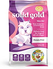 Solid Gold - Wee Bit With Real Bison, Brown Rice & Pearled Barley - Potato Free - Fiber Rich with Probiotic Support - Holisti