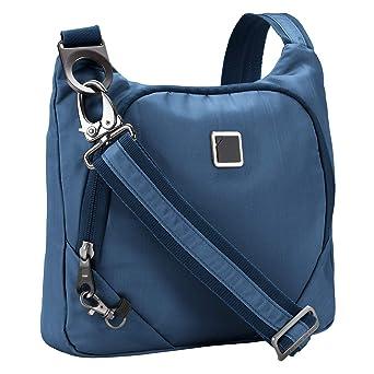 b7ecca2acee6 Lewis N. Clark Anti-theft Crossbody Purse + Sling Bag for Women, Men,  Travel or Work with RFID Blocking Technology, Slash Resistant Material,  Locking ...