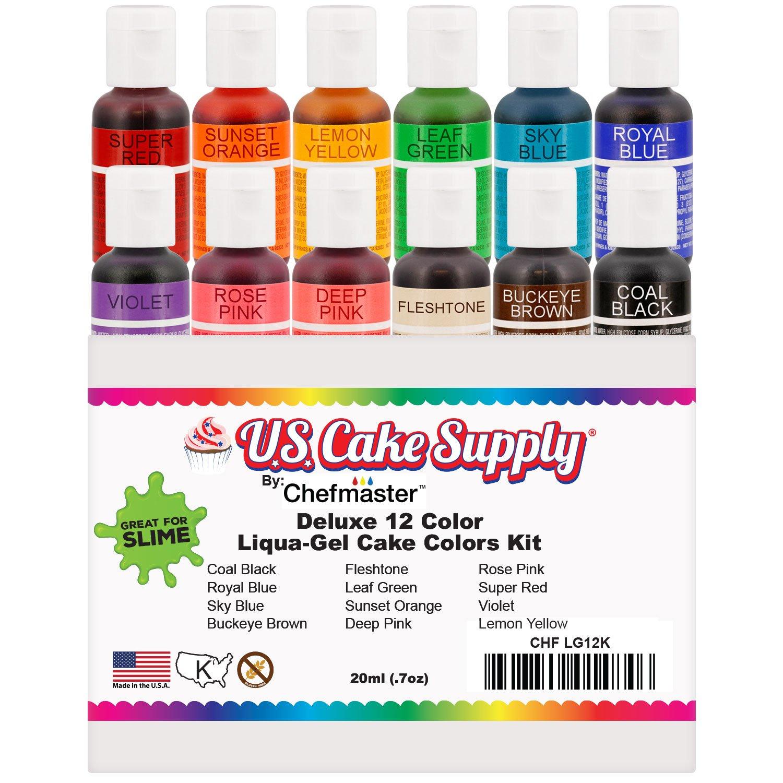 Amazon.com : U.S. Art Supply 12 Color Liqua-Gel Food Coloring Dye ...