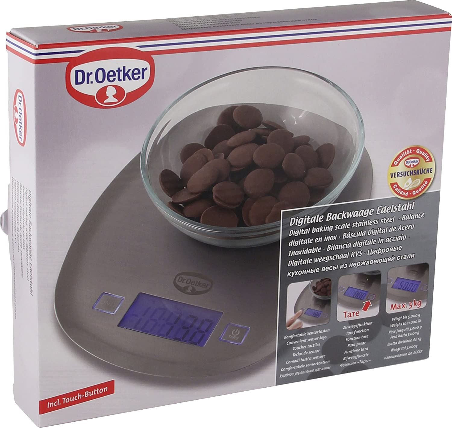 Amazon.com: Dr. Oetker Baking Scale Digital, Kitchen Scale, Scale, Digital Scale, Stainless Steel, Silver, 1536: Home & Kitchen