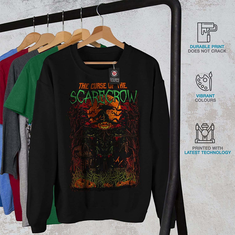 wellcoda Scarecrow Night Horror Mens Sweatshirt Casual Jumper