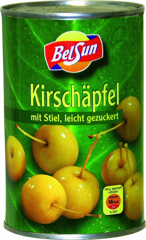 Äpfel / Kirschäpfel mit Stiel passend für Calvados, 4er Pack (4 x 425 g Packung)