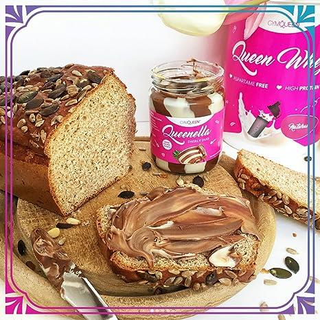 GymQueen Queenella Swirly Duo Crema Proteica de Cacao para Untar, con Avellanas y Sin Azúcar Añadido, 250 g: Amazon.es: Alimentación y bebidas