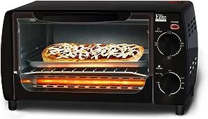 MaxiMatic EKA-9210B Elite Cuisine 4-Slice Toaster Oven Broiler, Black