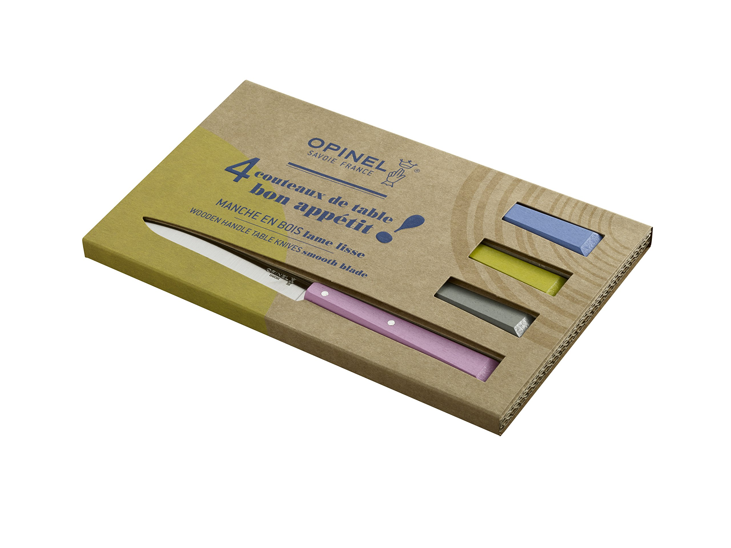 Opinel No 125 Bon Appetit 4 Piece Table Knife Set, Countryside by Opinel (Image #2)