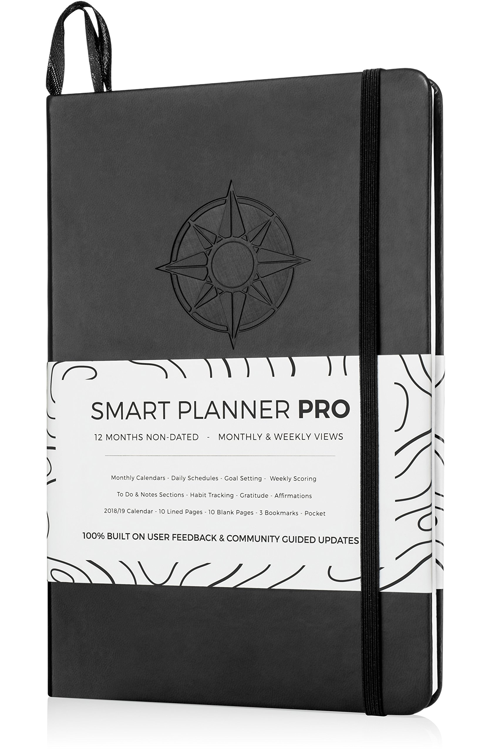 Planner 2018-2019 - Tested & Proven to Achieve Goals & Increase Productivity, Time Management & Happiness - Daily Weekly Monthly Planner with Gratitude Journal, Hardcover, Undated - 1 Year Guarantee