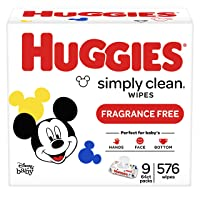 Deals on 9-Pack HUGGIES Simply Clean Baby Wipes 576 Sheets