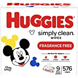 HUGGIES Simply Clean Fragrance-free Baby Wipes, 576ct