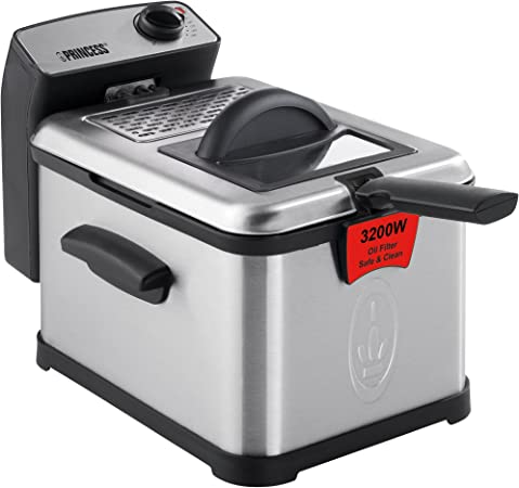 Princess Superior Fryer deep fryers Single, Black, Stainless steel, Stand-alone, Stainless steel, Rotary