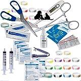 Abnoba's Mini Puppy Whelping Kit Umbilical Cord Clamp Forceps Iodine 49 + Items (653)