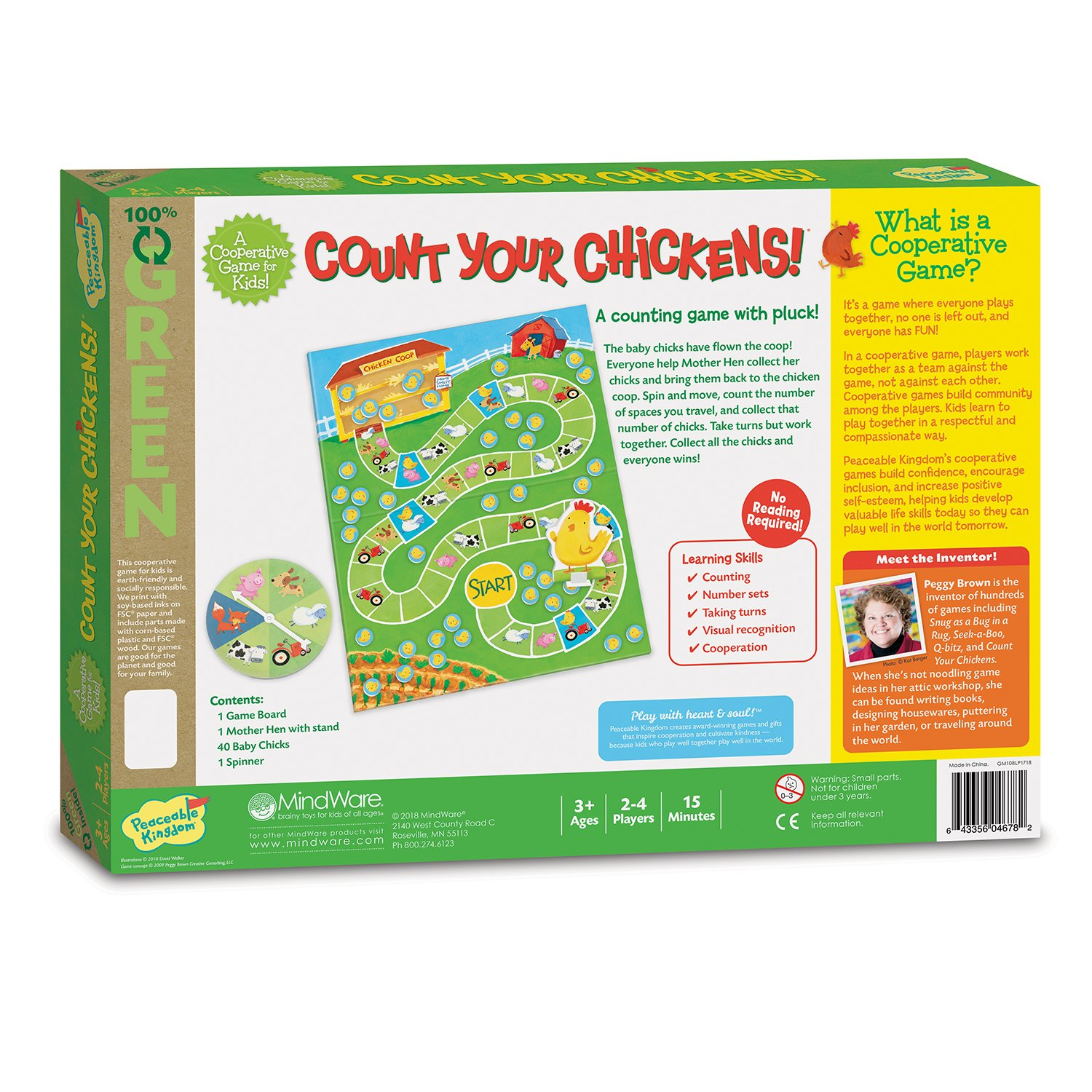 Amazon.com: Peaceable Kingdom Count Your Chickens Cooperative Board ...