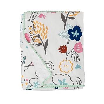Super Soft Baby Blanket Mink Sherpa Lining Colourfull Printed Desgin New Born