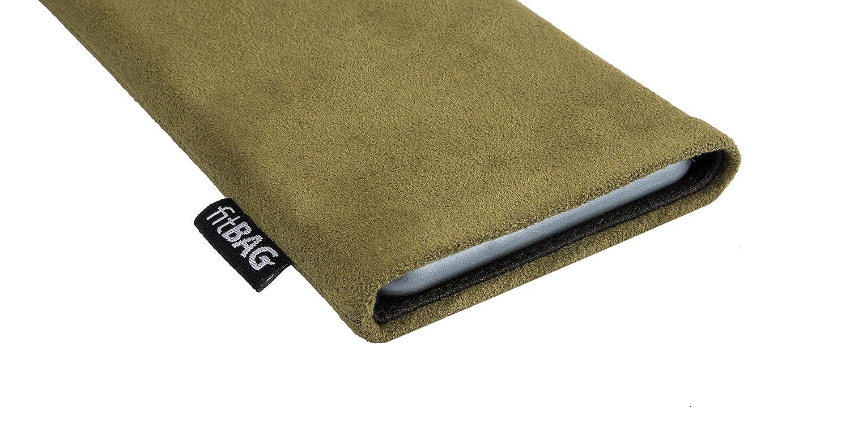 fitBAG Classic Azul Funda para m/óvil Funda de Tela con Forro de Microfibra Interior para Samsung Galaxy A40 con Limpieza de Pantalla