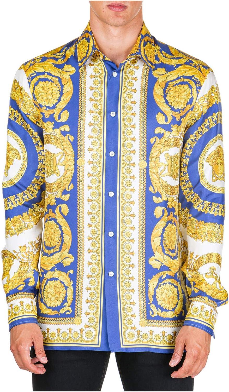 Versace Hombre Camisa barocco Giallo 40 cm: Amazon.es: Ropa y accesorios