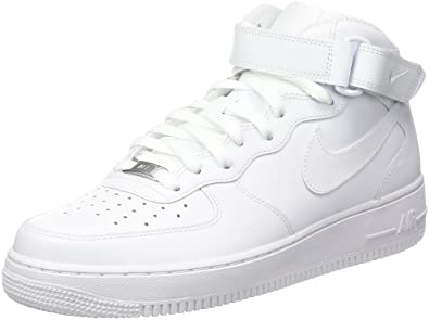 buy popular 75d82 a0813 Nike Herren Air Force 1 Mid 07 Hohe Sneakers, Weiß, 38.5