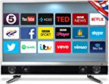 Cello P32ANSMT 32-Inch Platinum Android Smart Freeview T2 HD LED TV and Built in Soundbar - Manufactured in the UK
