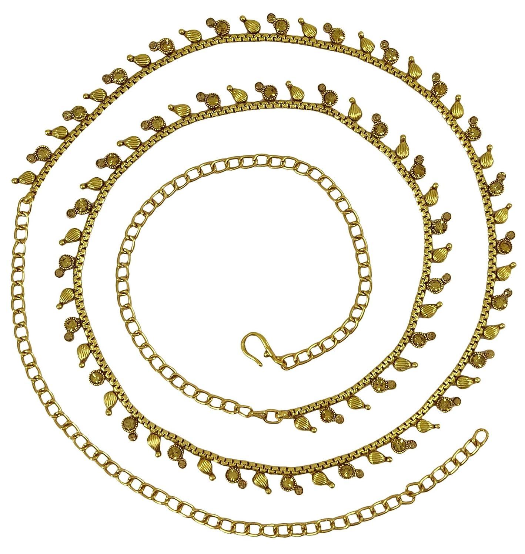Matra Indian従来GoldtoneブライダルウェディングCZストーンKamar Bandhレディースジュエリー ゴールド  ゴールド B073Q1B7NW