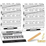 Tempi Piano Stickers for Keys ( 49 / 61 / 76 / 88) Notes Music Practice Tools for Musicians and Pianists