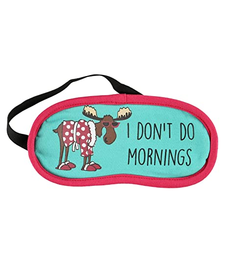 LazyOne Womens Dont Do Mornings Moose Máscara del Sueño
