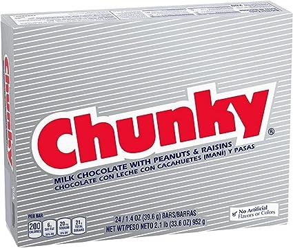 Nestle Chunky Chocolate Single Candy Bars, 1.4 Ounce (Pack of 24): Amazon.es: Alimentación y bebidas