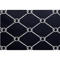 E by design RGN410BL14-35 3 x 5-ft, Ahoy!, Geometric Print Rug, Navy Blue