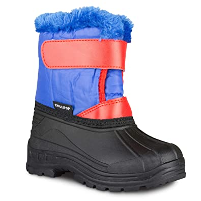 5fdedbcfc3cd1 Chillipop Colored Insulated Snow Boots for Boys, Girls, Little Kids, Size 5,