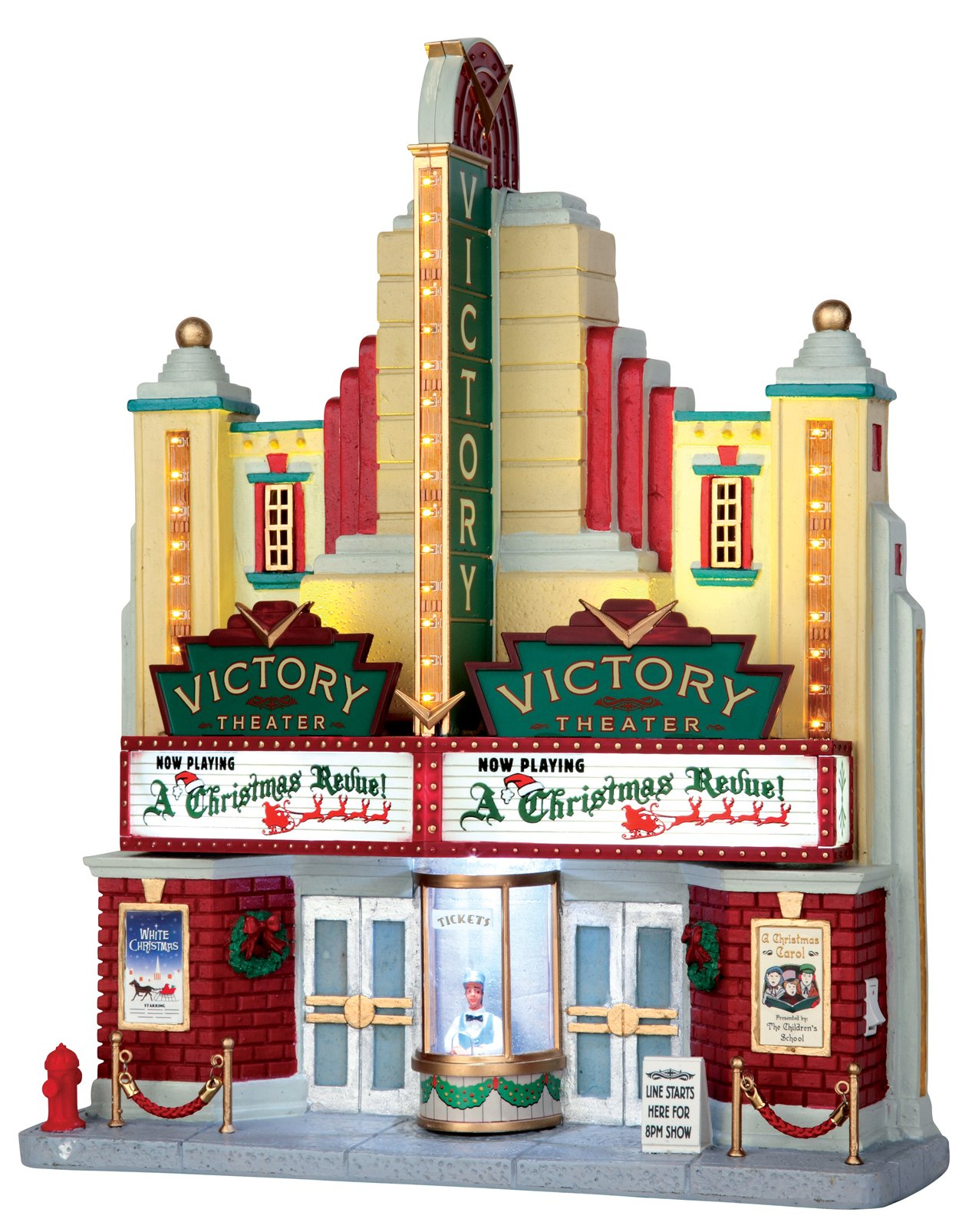 Lemax Village Collection Victory Theater Battery Operated # 55920