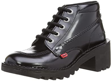Cuir Kickers Chaussures Femmes Hi Noir Noir Kopey 37 H0xt0
