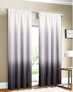 dainty home shades 2window panel rod pocket set 40 by 84inch