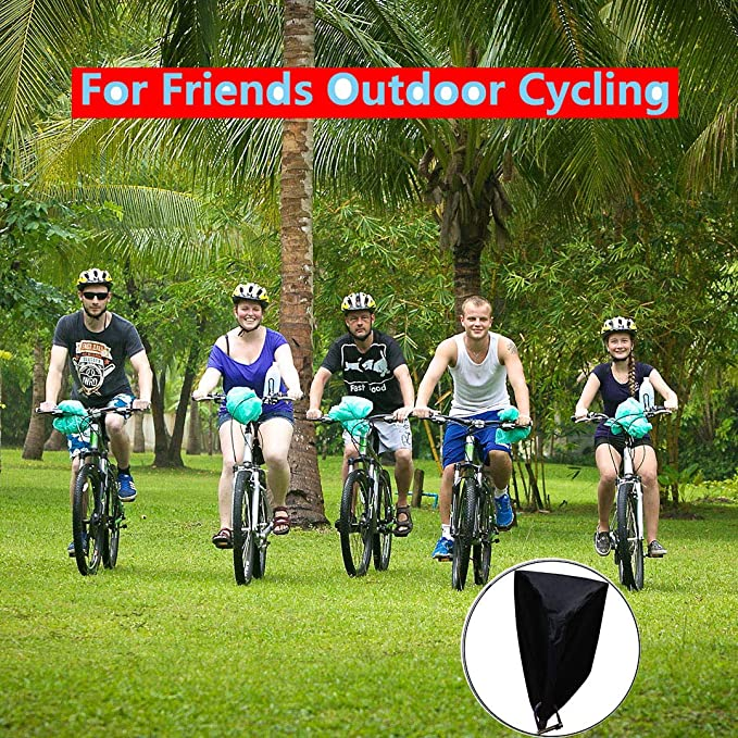 VANHOM Funda Bicicleta Exterior Impermeable Fundas para Bicicletas Impermeable Funda de Protección Bicicleta Exterior Grandes de Montaña para 2 Bicicleta ...