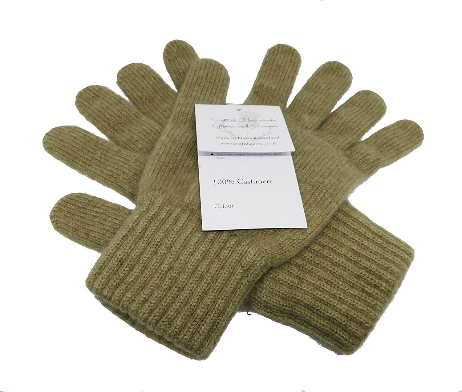 Ladies Cashmere gloves Homemade in Hawick Scottish Borders Derby Grey