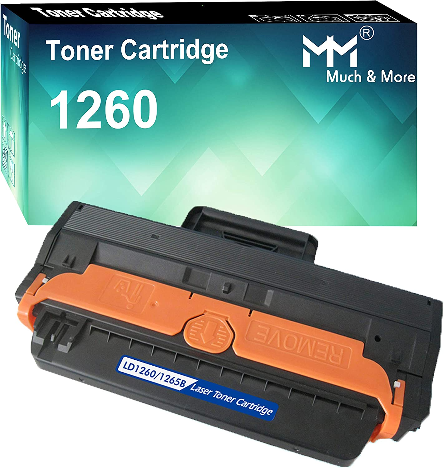 (1-Pack) Compatible Dell 1260 Dell 331-7328 RWXNT Toner Cartridge Used for Dell B1260dn B1260 B1265dn B1265dnf B1265dfw Series Printers, Sold by MuchMore