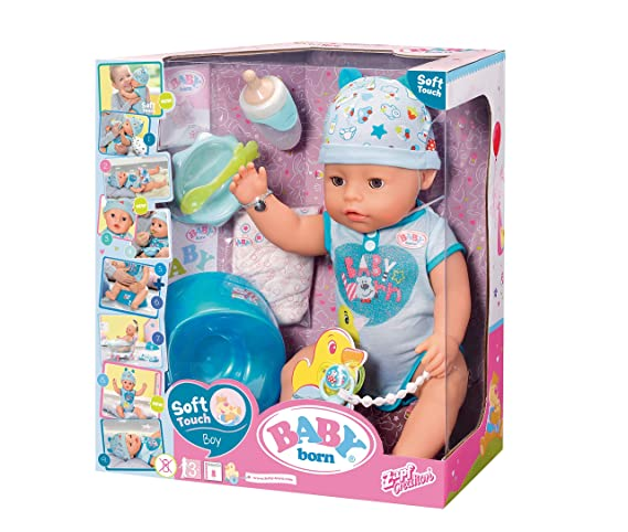 06a8ec640fecf3 Baby Born 30880 Interactive Doll - Baby Boy - 9 Functions and 11 ...