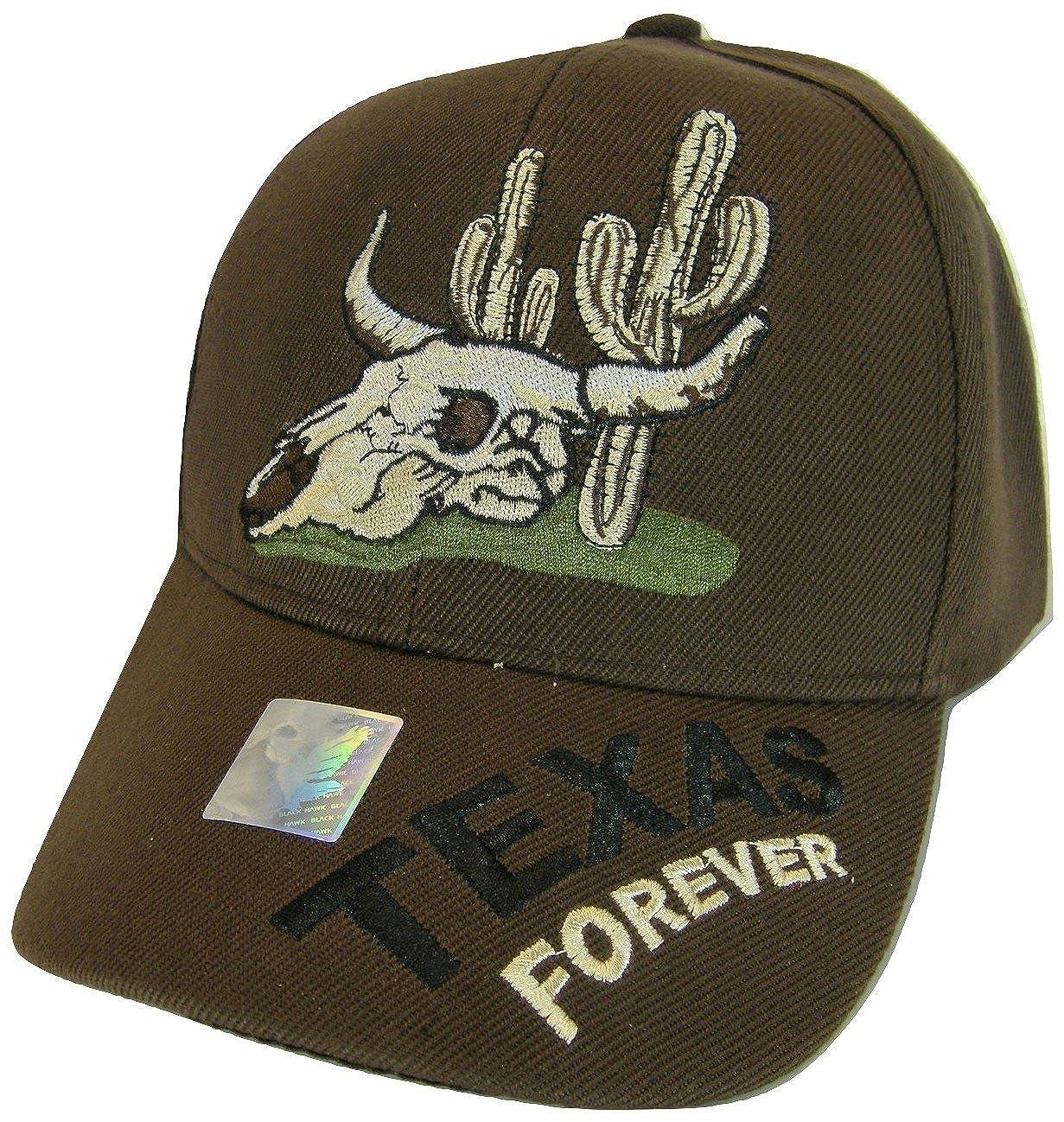 Amazon.com  Texas Forever Men s Adjustable Baseball Cap (Black)  Clothing da8c3b21aca