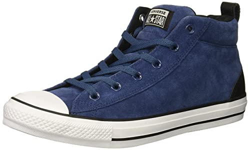 Converse Chuck Taylor All Star Street Suede MID Sneaker, Mason Blue/Black/White