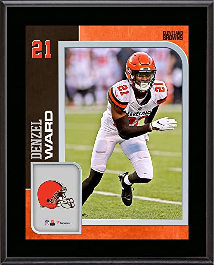huge discount f0d88 c69b0 Amazon.com: Denzel Ward Cleveland Browns 10.5