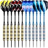 ONE80 Dartpfeile,12 Stück Steel Darts Pfeile Set,20 Gramm Profi Steeldarts mit Metallspitze,Darts Steel,dartpfeil,Dart
